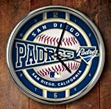 MLB San Diego Padres Official Chrome Clock, Multicolor, One Size