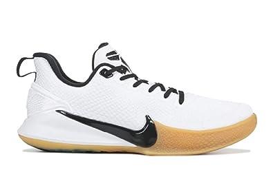 42501a1e1b70b Nike Men's Kobe Mamba Rage Basketball Shoe White/Black/Gum Light Brown Size  14 M US