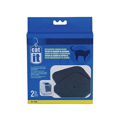 Catit Replacement Carbon Filter for Cat Toilet - 2 Piece, Litter Box, Hood Toilet by Catit