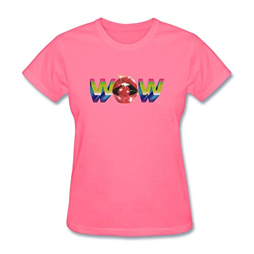 MINNRI Women's Beck Song Wow T-shirt Pink L