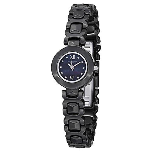 Stuhrling Original Women's 918.02 Leisure Le Petit II Black Ceramic Watch with Link Bracelet