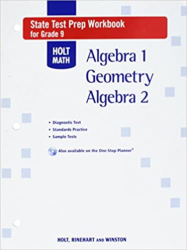 Holt Math State Test Prep Workbook, Grade 9: Algebra 1 / Geometry