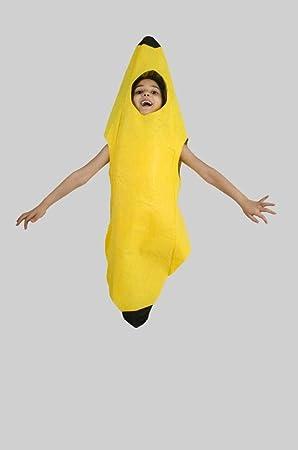 Matissa Niños Frutas Verduras y Trajes de la Naturaleza Trajes Fiesta de Disfraces Niños y niñas (Plátano)