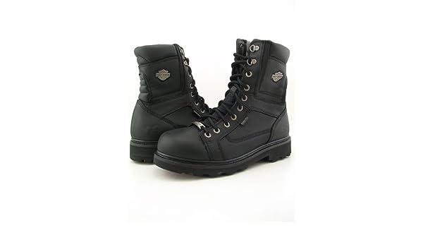 Black HARLEY-DAVIDSON FOOTWEAR Mens Chipman Motorcycle Boot 10 Medium US