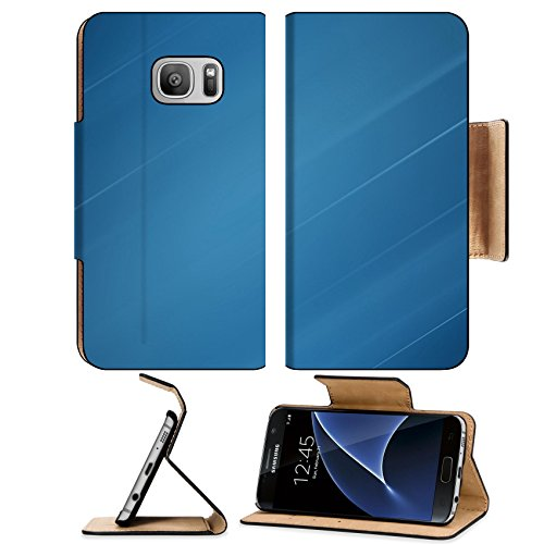 Liili Premium Samsung Galaxy S7 Flip Pu Leather Wallet Case Abstract blue background business card Photo 20298642 Simple Snap Carrying