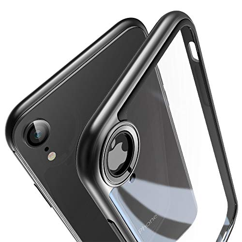 ESR Bumper Hoop Case for iPhone XR, Heavy Duty Armor with Flexible Inner Cushion [Reinforced Camera Protection] [Glass-Back Safe] for 6.1
