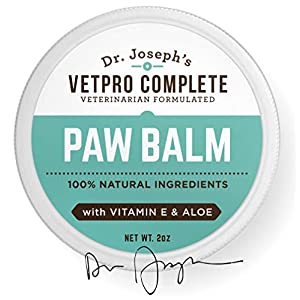 100% Natural Vet Formulated Paw and Nose Balm Wax for Dogs and Cats with Vitamin E and Aloe. Heals, Soothes, and Protects Cracked and Dry Paws and Noses. Made in USA 17