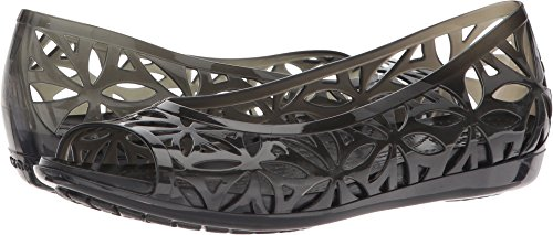 Crocs Women's Isabella Jelly II W Flat Sandal, Black/Black, 7 M US