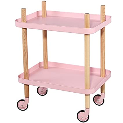 hot sale online 91150 ca115 Amazon.com : Utility Carts with Wheels, Metal Tray End Table ...