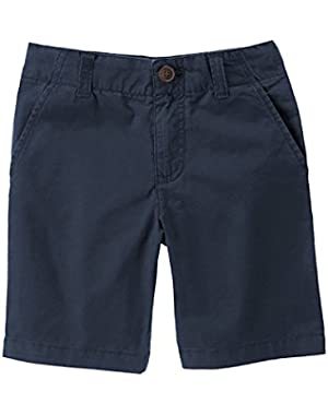 Toddler Boy's Gym Navy Flat Front Shorts 18-24 Months