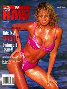WWF Raw Magazine January 1998 Issue--Sunny Cover