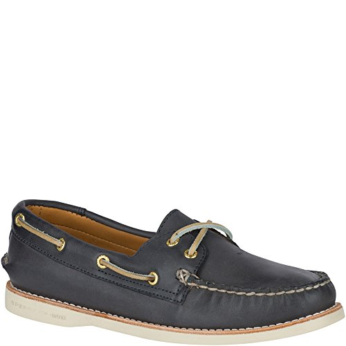 Blue Leather Boat (Sperry Men's Gold Cup Navy Leather Welt Boat Shoe - 7.5 B(M) US)