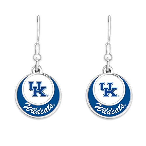 - College Team Stacked Disk Earrings (Kentucky Wildcats)