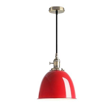 Modern techo Industrial - Lámpara de techo color rojo ...