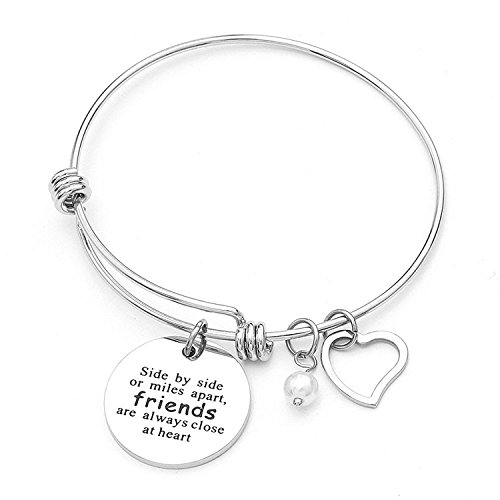 Anson&Hailey Side by Side Or Miles Apart Compass Best Friends Bangle...