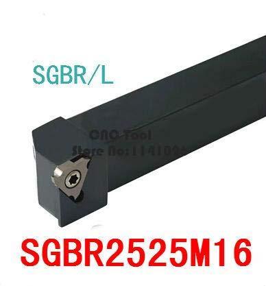 1 piece SGBR2525M16/32 25MM External Grooving Turning Slotting Tool Holder For Lathe Machine CNC Cutting Turning Tool Set Holder