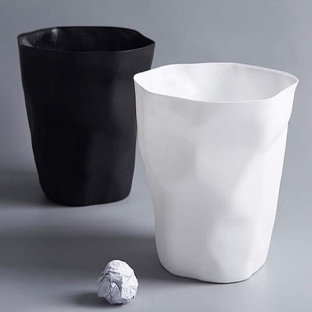 TOYANDONA 1 unid Cubo de Basura de Estilo n/órdico Cesta de Papel de Forma Plisada multifunci/ón para ba/ño Cocina Sala de Estar Dormitorio Blanco