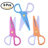 COOKA Plastic Safety Scissors, Pre-school Training Scissors Art Craft Scissors for Kids and Students (6 Pieces)