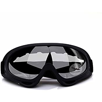 Freehawk® Adjustable UV Protective Outdoor Glasses Motorcycle Goggles Dust-proof Protective Combat Goggles Sunglasses Outdoor Tactical Goggles to Prevent Particulates in Clear