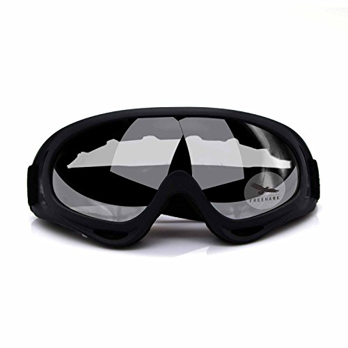 Freehawk Adjustable UV Protective Outdoor Glasses Motorcycle Goggles Dust-proof Protective Combat Goggles Sunglasses Outdoor Tactical Goggles to Prevent Particulates in Clear -
