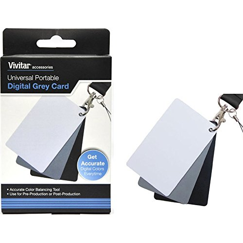 Vivitar Universal Portable Digital Grey Card Set