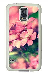 Beautiful Flower White Hard Case Cover Skin For Samsung Galaxy S5 I9600 by supermalls