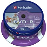 Verbatim 43539/25 - DVD+R vírgenes (25 unidades, 4.7 GB, 16x)