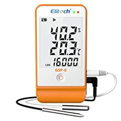 Elitech GSP-6 Temperature and Humidity D...
