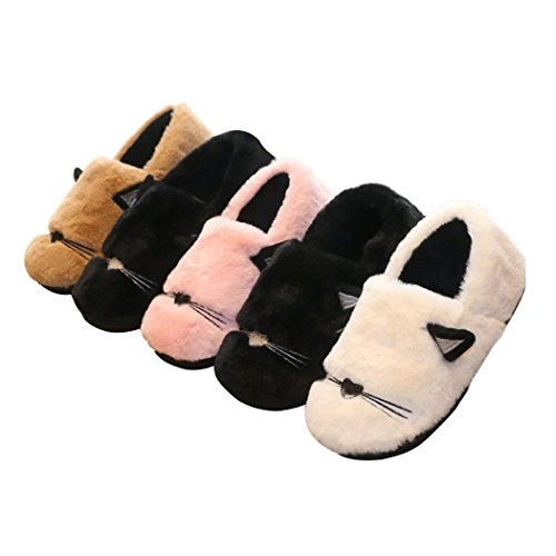 Cat Slippers Coral House Women's Cute velvet Slip Non Embroidery ONCAI I0OxwqPHO