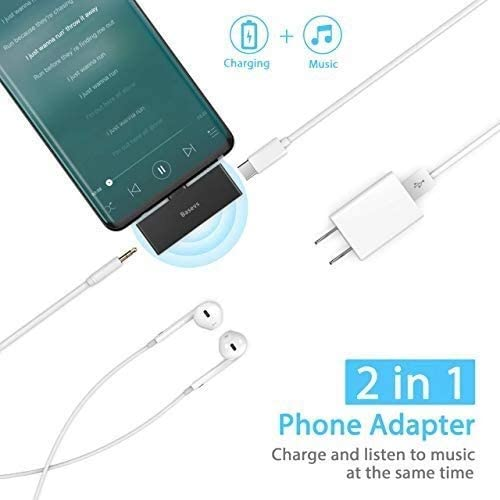 Samsung Galaxy S20//note 10//Note8//S8//S9Plus and More USB C Devices Pixel 3//2 Basevs 2-in-1 Type C to 3.5mm Pixel 2 Adapter for Headphone Compatible with iPad Pro 2020 USB C Headphone Charger Adapter