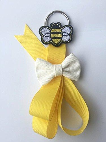 Bumblebee Hair Bow Holder, Hair bow Hanger, Hair Bow Organizer, Long Hair bow Holder, Baby Shower (Bumble Bee Bow)