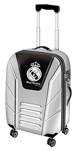 Karactermanía Real Madrid Trolley de Viaje Rígido, 8 Litros, Color Gris: Amazon.es: Equipaje