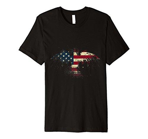 American Eagle T-Shirt Patriotic American Eagle Flag Premium from American Eagle T-Shirt Premium T-Shirt