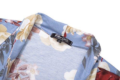 Urban CoCo Women's Drape Front Open Cardigan Long Sleeve Irregular Hem (# 2-2, 2XL) by Urban CoCo (Image #3)