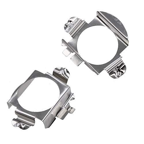- YUNPICAR H7 LED Headlight Bulb Retainers Holder Socket Base Adapter for Mercedes Benz C CLK GLA GL GLS Class