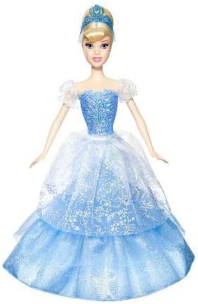 DISNEY BARBIE PRINCESS CINDERELLA DOLL DRESS TIARA SHOES W RING FOR YOU MATTEL