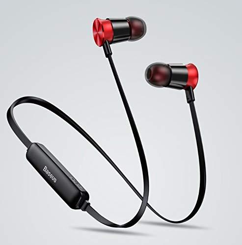 Auriculares Bluetooth ENCOK BASEUS S07-19 Black-Red inalámbrico para Correr Entrenamiento Gimnasio o Otros Deportes: Amazon.es: Electrónica