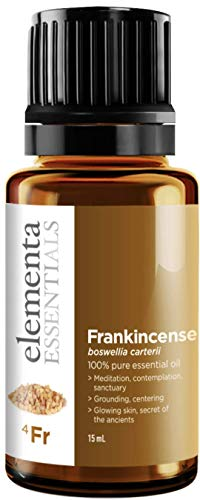 Elementa Essentials Frankincense Essential Oil 100% Pure Therapeutic Grade 15ml For Healthy Skin and Emotional Strength