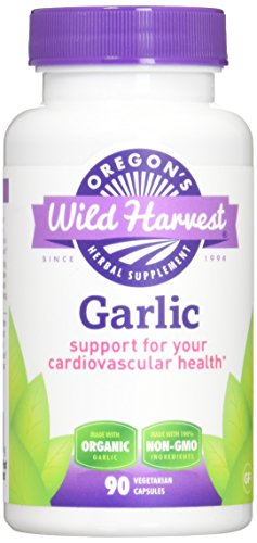 Oregon's Wild Harvest Non-GMO Garlic Capsules,  Organic Herbal Supplements (Packaging May Vary), 90 Count