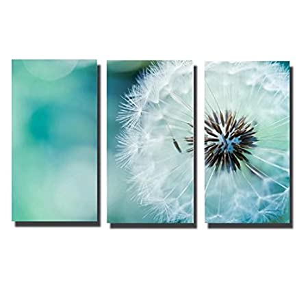 MOXO Blue Navy Backaground White Dandelion Canvas Abstract Dandelion  Pictures Painting Canvas Prints 3 Panels For