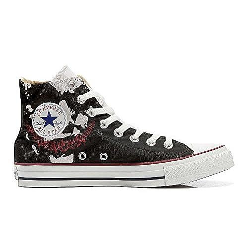 Converse All Star Hi chaussures coutume mixte adulte (produit artisanalPersonnalisé) Face art