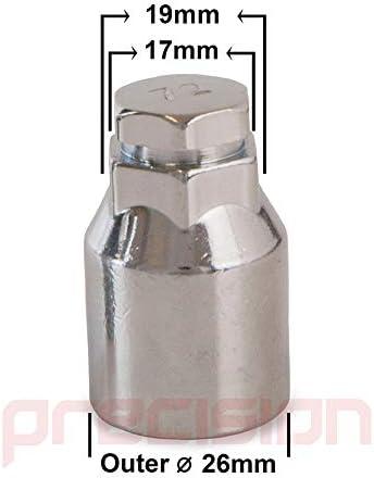 Precision Chrome Locking Bolts for Ćitroen Berlingo with Genuine Ćitroen Alloy Wheels PN.SFP-LBSPEB4124