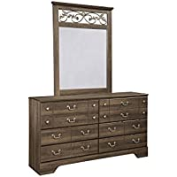 Ashley Furniture Signature Design - Allymore Dresser - 6 Drawers with Warm Bronze Tone - Vintage Casual - Brown