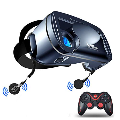 VR Headset 2 Stickers Virtual Reality Goggles by VR WEAR 3D VR Glasses for iPhone 6//7//8//Plus//X /& S6//S7//S8//S9//Plus//Note and Other Android Smartphones with 4.5-6.5 Screens