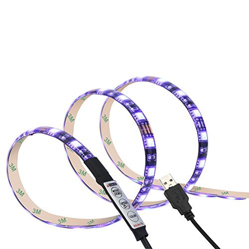 Bias Lighting for HDTV iTV Plus USB LED Strip Multi Color RGB Backlight Kit for Flat Screen TV LCD, Desktop PC (60 inch)