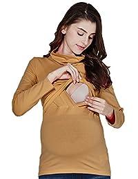 Sweet Mommy Maternity and Nursing Long Sleeve Nursing Turtleneck Tee