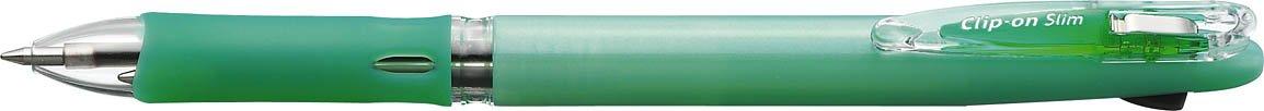 Zebra Clip-On Slim 2C Ball Point Pen, Pastel Green (B2A5-WG)