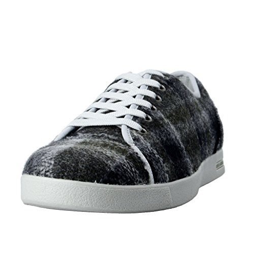 Dolce & Gabbana Women's Canvas Leather Fashion Sneakers Shoes US 8.5 IT 38.5 Dolce Sz 5; Grey