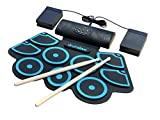 Drumskool Electronic Drum Set, MIDI Electric drum kit, Connect your phone to play
