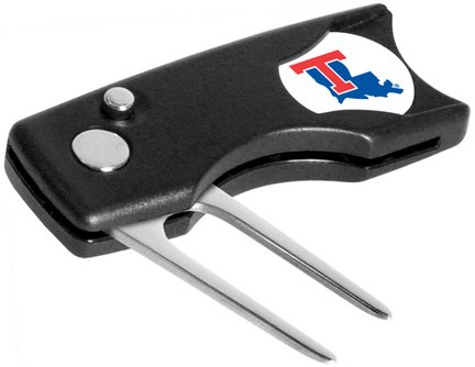 Louisiana Tech Bulldogs Spring Action Divot Tool with Golf Ball Marker (Set of 2)